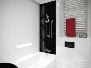 mała łazienka glamour