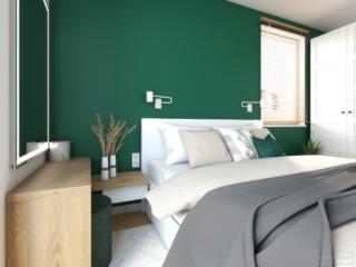 zielona-sciana-w-sypialni